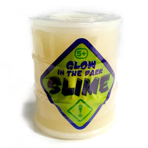 A Barrel Shaped Tub Filled with Glow in the Dark Slime