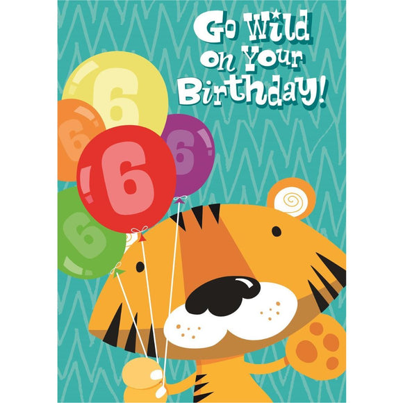 Go Wild on Your 6th Birthday Greetings Card by Hallmark