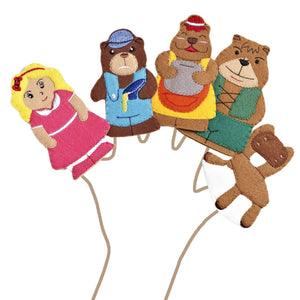 Goldilocks And The Three Bears Story Time Finger Puppet Set