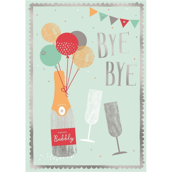 Bye Bye Hallamark Leaving Greeting Card