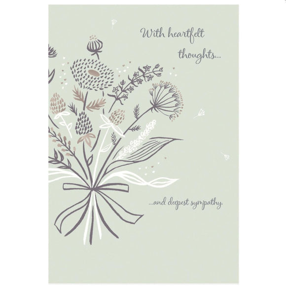 'With Heartfelt Thoughts and Deepest Sympathy' Card