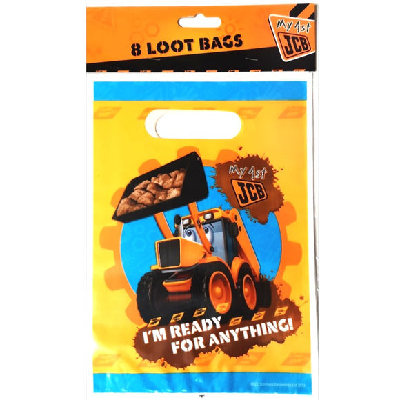 6 My 1st JCB Party Loot Bags