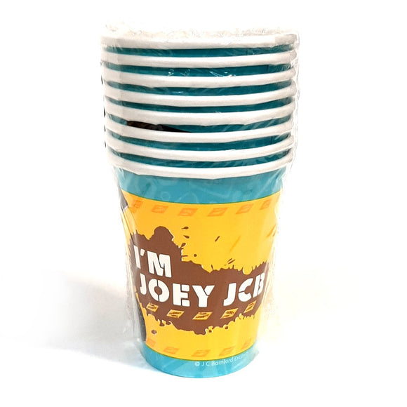 A pack of My 1st JCB disposable paper party cups.