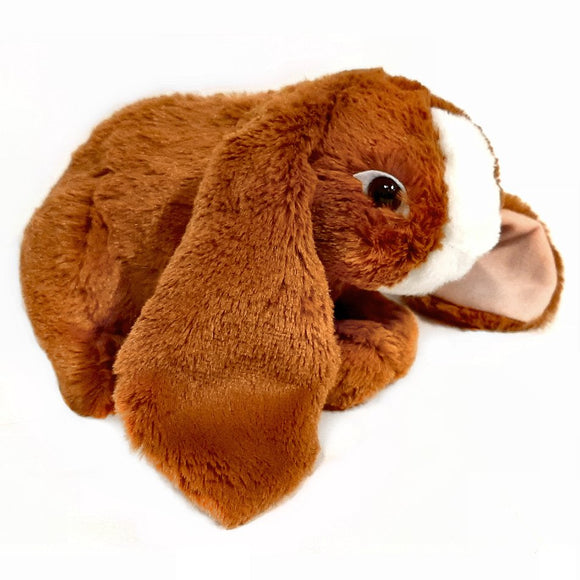 This Lop Eared Rabbit cuddly soft toy measures 25cm long and is CE approved for all ages (0+).
