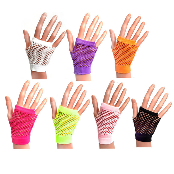 Fishnet Fingerless Glove for 80's Party Fancy Dress and Hen Night