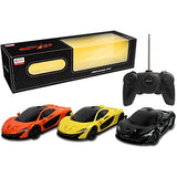 1/14 scale McLaren Radio Control Cars in orange yellow and black