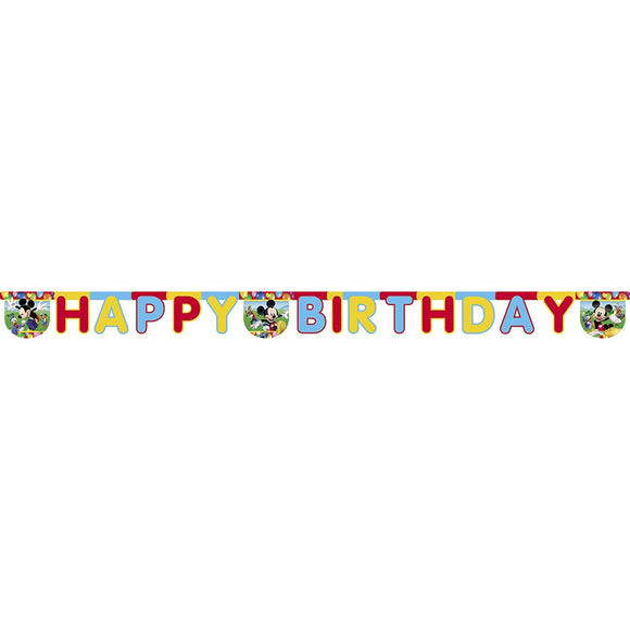 Mickey Mouse Birthday Banner Party Decoration