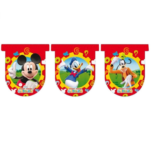 Mickey Mouse Clubhouse Flag Banner Party Decoration