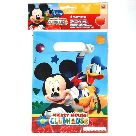 Pack of 6 Disney Mickey Mouse Party Bags