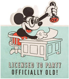 Mickey Mouse Birthday Card Officially Old Licensed to Party