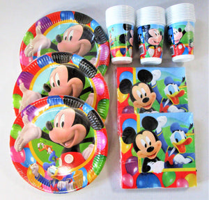Mickey Mouse Party Time Tableware Pack for 30 People