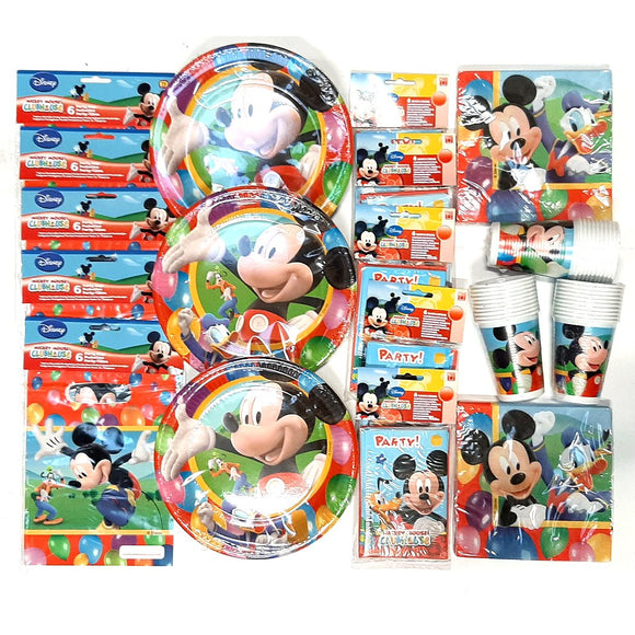 Mickey Mouse Party Time Party Pack for 30 People