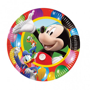 "Mickey Mouse Party Time 9"" plates"