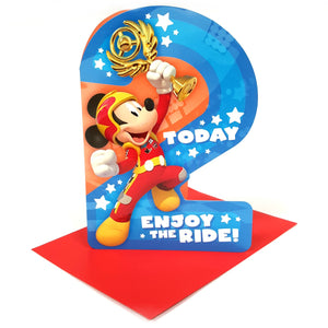 2 Today Enjoy The Ride Mickey Mouse Birthday Card