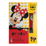 Hallmark Disney Minnie Mouse Birthday Card With Inflatable Bow