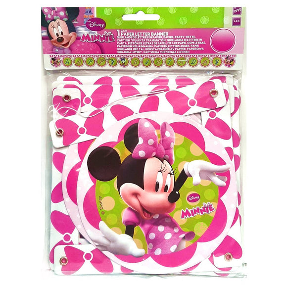 Minnie Mouse Happy Birthday Letter Banner party Decoration