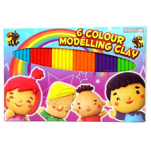 6 Pack of Modelling Clay Great for Party Favor Packs and Craft Projects
