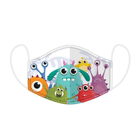 Monstarz Monser Reusable Two Layer Face Mask Covering - Small 20 cm x 11 cm