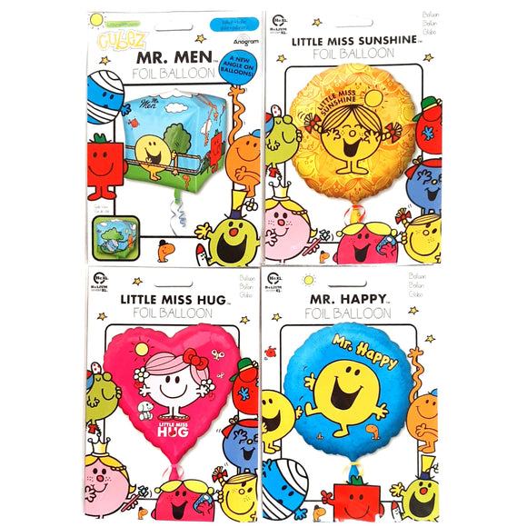 Set of 4 Mr Men Foil Balloons