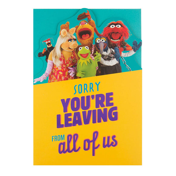 The Muppet's Sorry Your Leaving Card