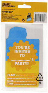 16 My 1st JCB Invitations and Envelopes - Party - Girls - Boys - 2 x 8 Pack