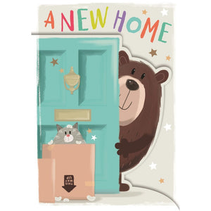 A New Home Card...Hope It's Crammed with Happiness - Hallmark Card & Envelope