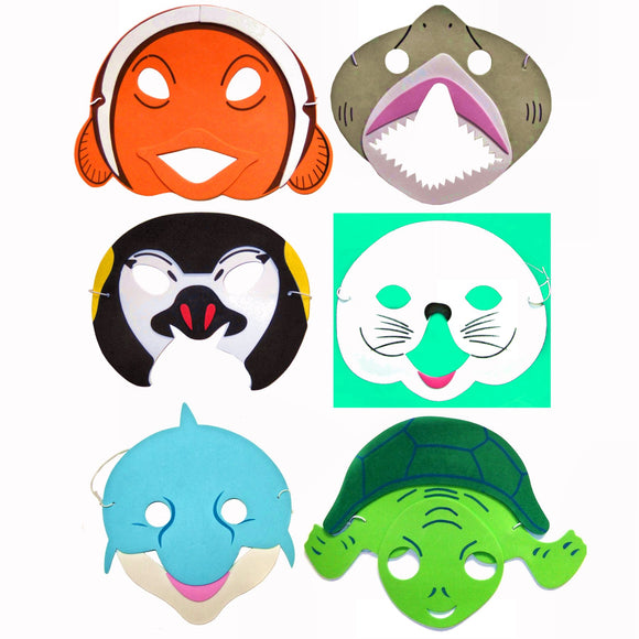 Children's Ocean Sealife Animal Face Mask for Fancy Dress
