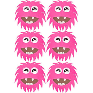 6 Pink Monster Foam Halloween Masks ideal for schools, parties, groups and theaters