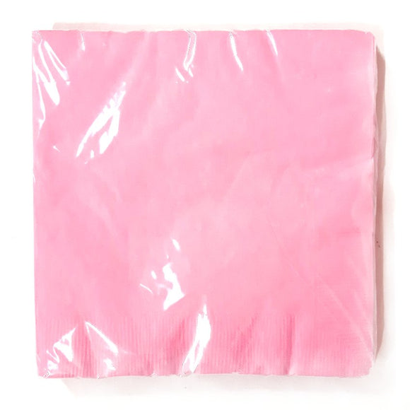 Pack of 20 Pink Paper Napkins - Party Tableware and Pink Party Supplies