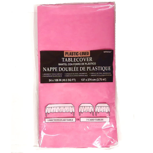 Pink Paper Table Cover - Party Tableware and Pink Party Supplies