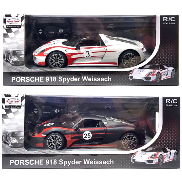 Radio Remote Control Porsche 918 Spyder Black and White
