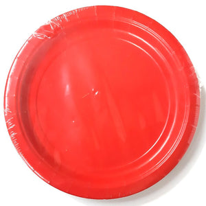 Pack of 8 Red Paper Plates - Party Tableware and Red Party Supplies