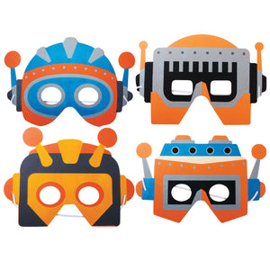Children's Robot Face Masks for Fancy Dress and Party Bags
