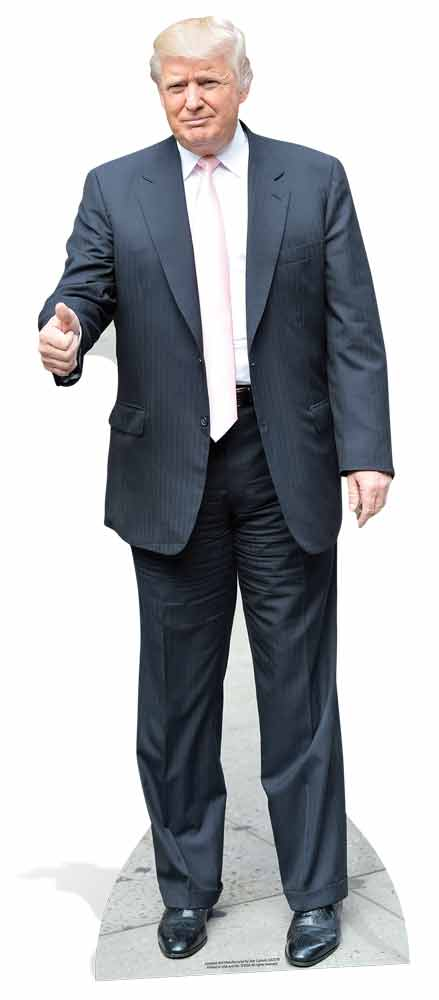 Donald Trump President of United States of America Lifesize Cutout