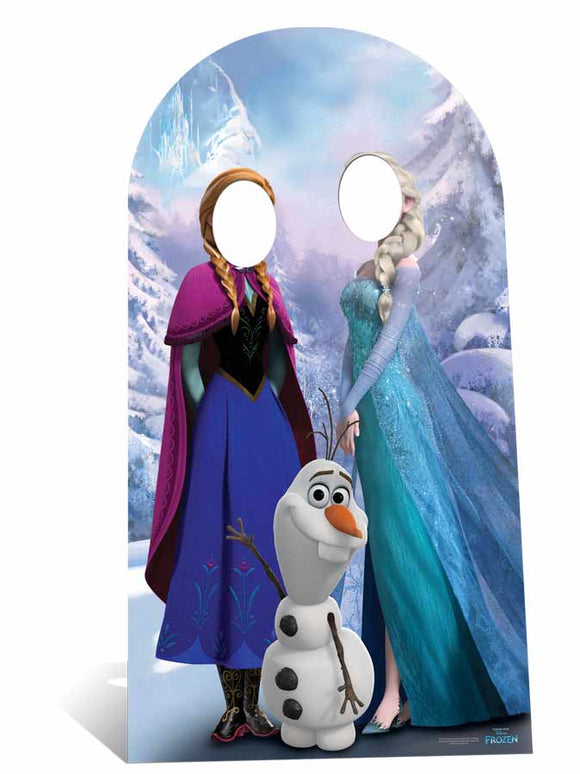 Anna and Elsa Frozen Stand-In Adult Sized Large Cardboard Cutout