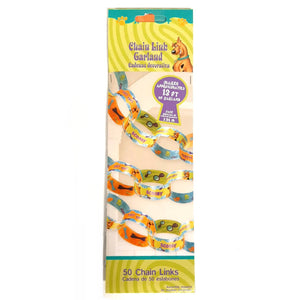 This Scooby Doo Paper Chain pack contains 50 chain links - 13ft (3.9m) long in total.  Perfect for a Scooby Doo themed party!