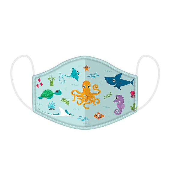 Sea Life Splosh Reusable Two Layer Face Mask Covering - Small 20 cm x 11 cm