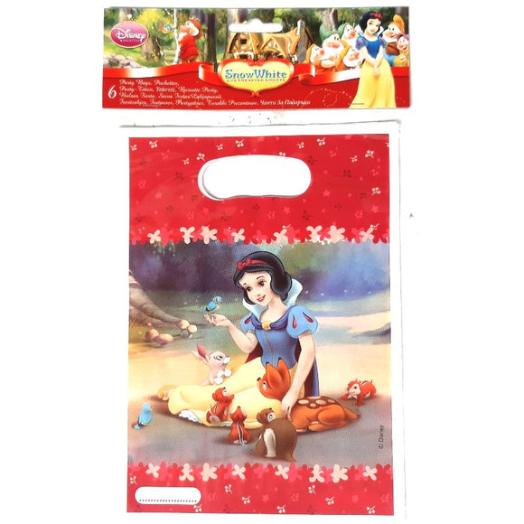 A Pack of 6 Snow White and the Severn Dwarfs Party Favor Bags