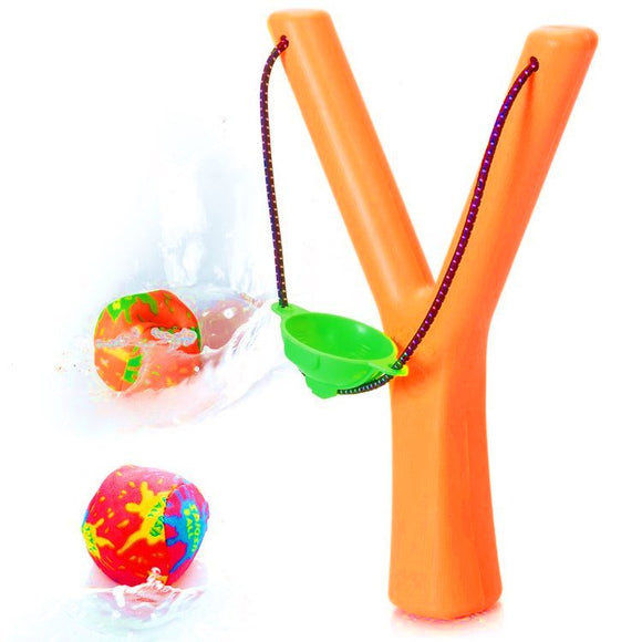 Soak and Sling Toy Catapult with Water Absorbing Balls