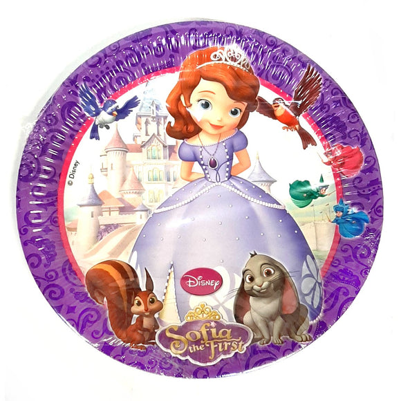 Sofia the First Paper Party Plates