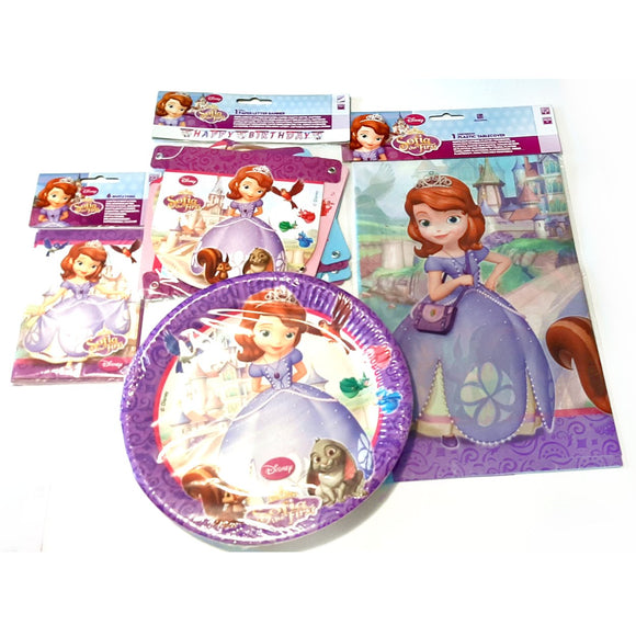 Sofia the First Party Pack Tableware and Decorations