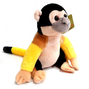 18cm Bright Coloured Squirrel Monkey Super Soft Cuddly Plush Toy suitable for all ages
