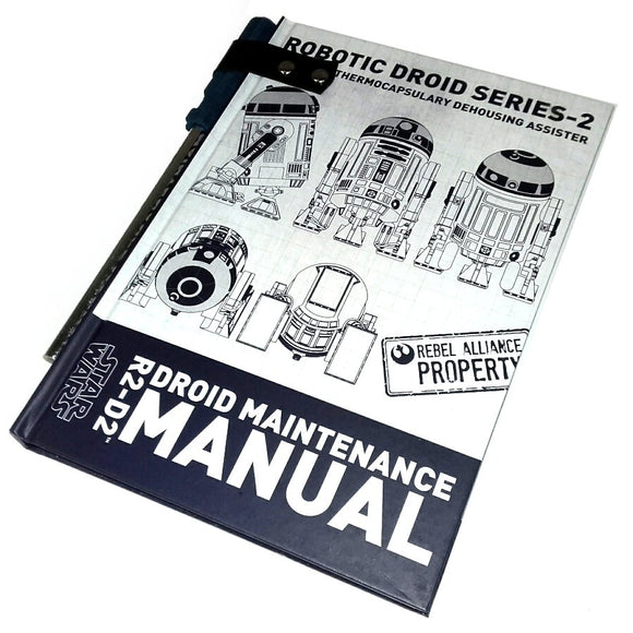 Star wars R2D2 Droid Manual daily planner note book front cover