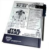 Star wars R2D2 Droid Manual Planner Note Book Back Cover