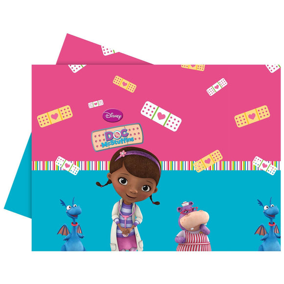 Disney Doc McStuffins Plastic Table Cover 120cm x 180cm