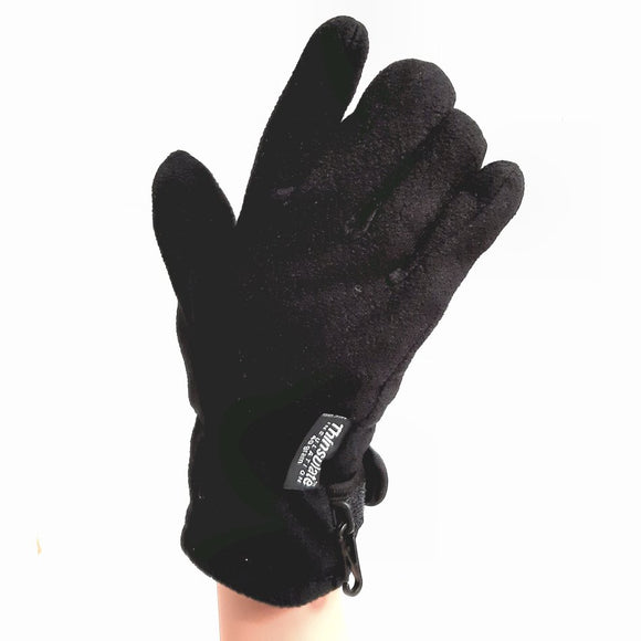 Thinsulate Gloves - Warm Winter Fleece Gloves Black