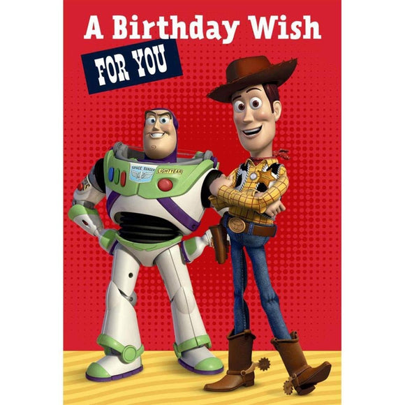 Toy Story Birthday Wish Greetings Card