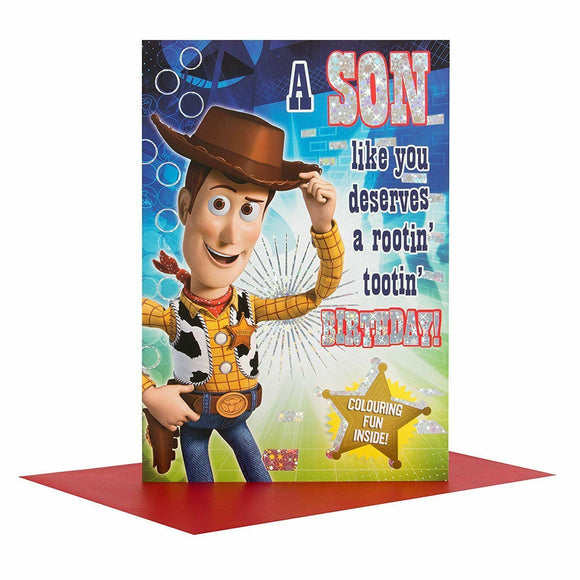 To a Son Toy Story Birthday Card by Hallmark