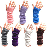 Long Knitted Fingerless Fashion Gloves