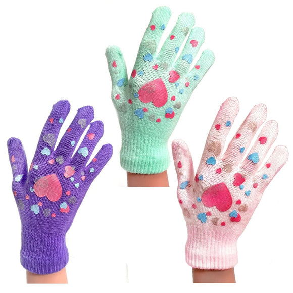 Children's Gloves With Hearts